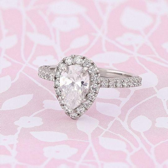 Pear Diamond Engagement Ring