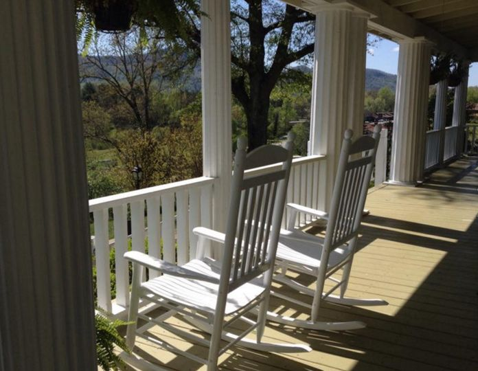 White-picket porch