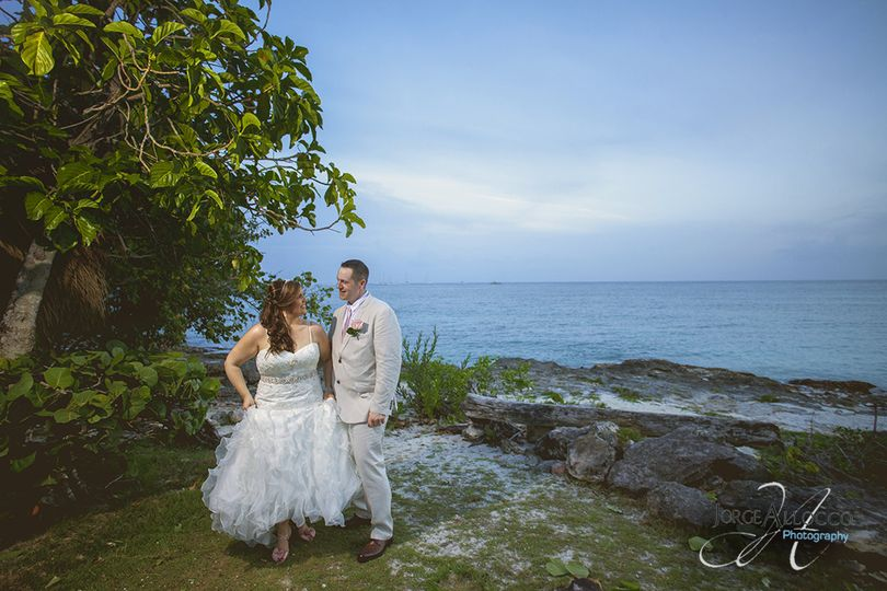Wedding photography at Dreams la Romana Hotel Dominican Republic.