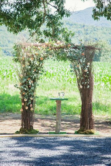 Rustic and floral arch