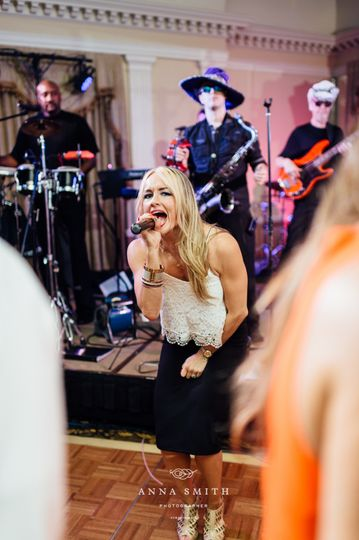 Band action/wedding event
