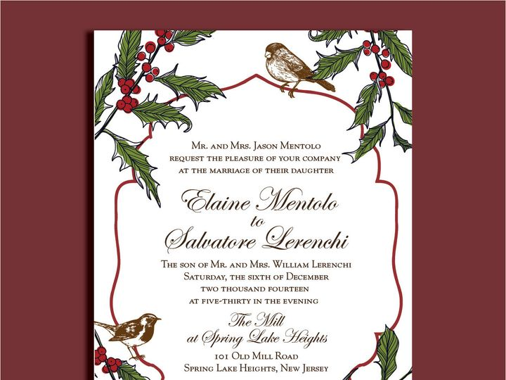 Tmx 1389567090464 1 1 Red Bank wedding invitation