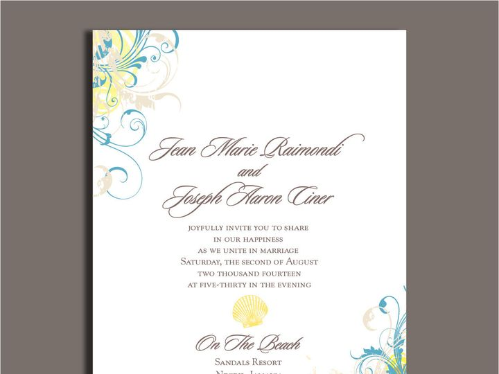 Tmx 1389567096556 1 11 Red Bank wedding invitation