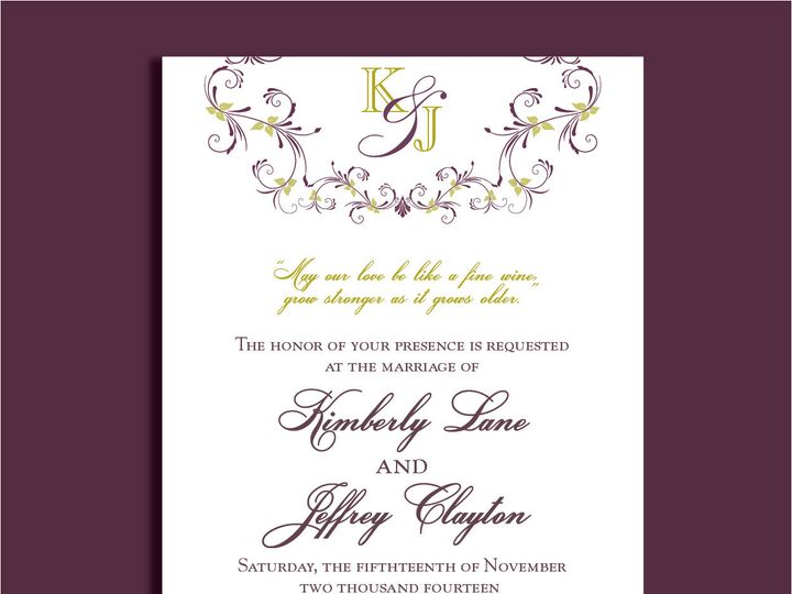 Tmx 1389567115859 1 11 Red Bank wedding invitation