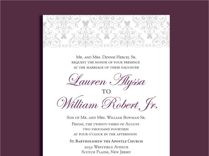 Tmx 1389567141788 1 12 Red Bank wedding invitation