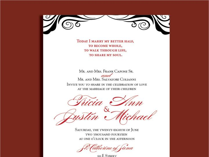 Tmx 1389567199314 1 15 Red Bank wedding invitation