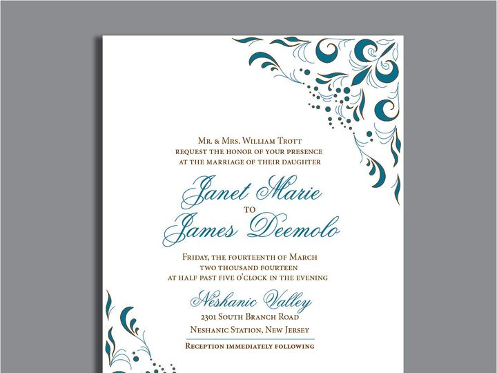 Tmx 1389567234750 1 15 Red Bank wedding invitation