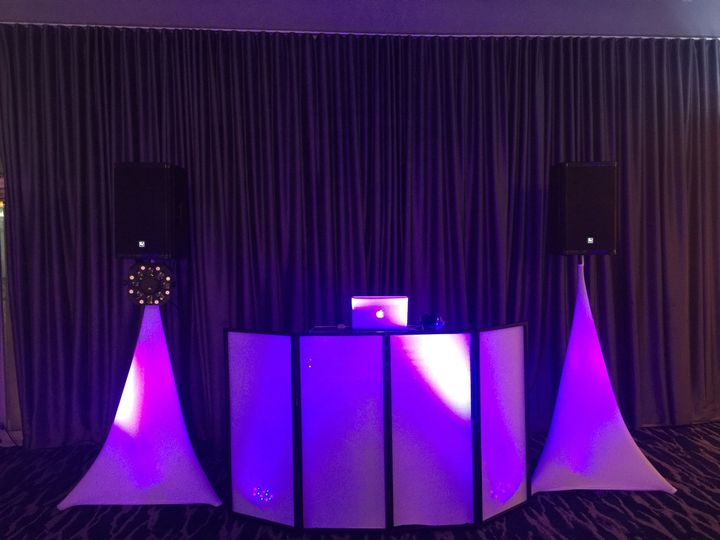 Miami party dj- dj setup -LED FACADE