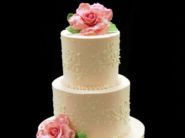 Tmx 1264617014469 Buttercreamweddingcake Paoli wedding cake