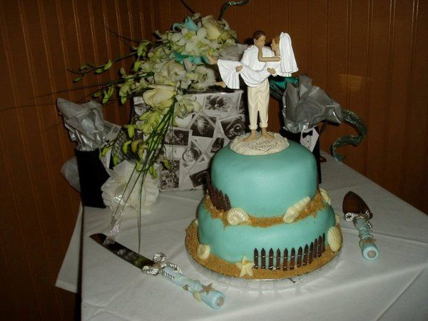 Tmx 1320685992613 Beachwedding2 Piermont wedding cake