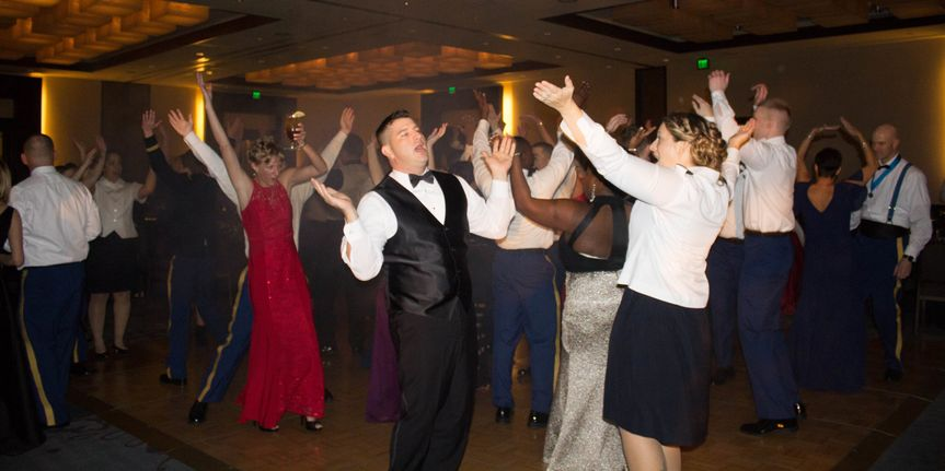 Guests partying
