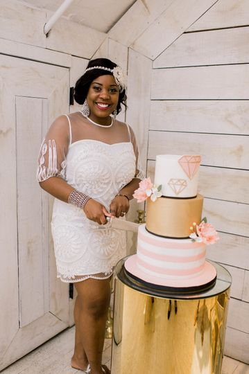 Bride and the cake