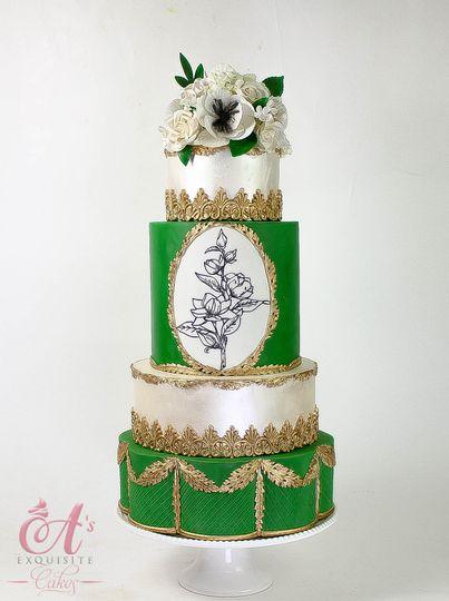 Ornate Wedding Cake