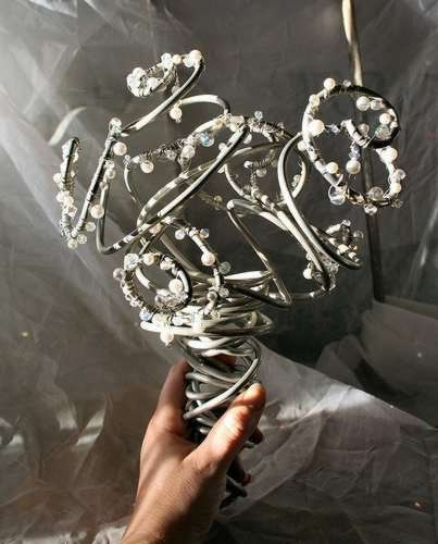 Alternative bridal bouquet made from aluminum