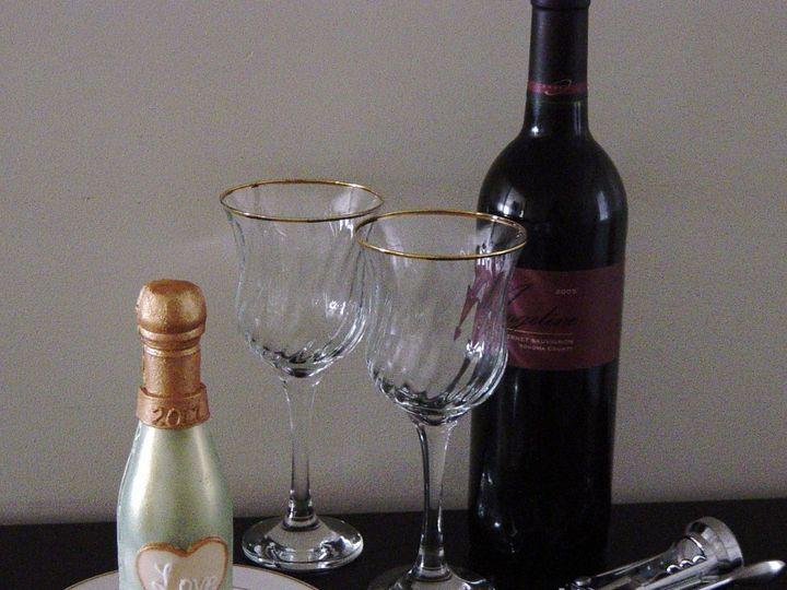 Tmx 1360084741651 ChocolateChampagneBottle Raleigh wedding cake