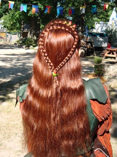 A good braid for the bride who wants braids AND flowing hair...