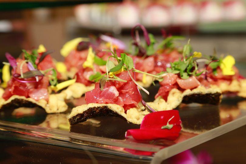 sushi catering tapas tuna
