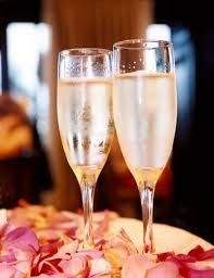 Champagne flute wines