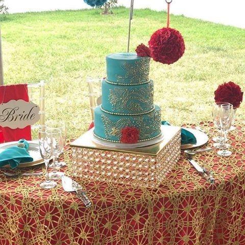 Wedding cake table