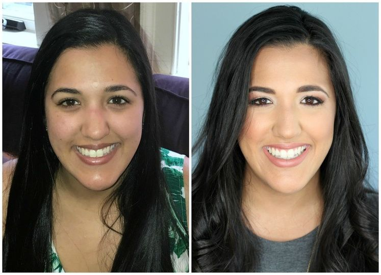 before and after latina wedding makeup brighter d