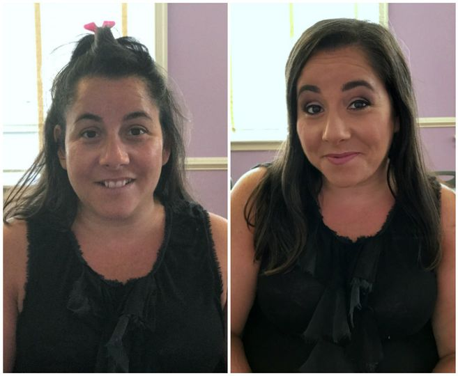 before and after on air makeup neutral cool toned
