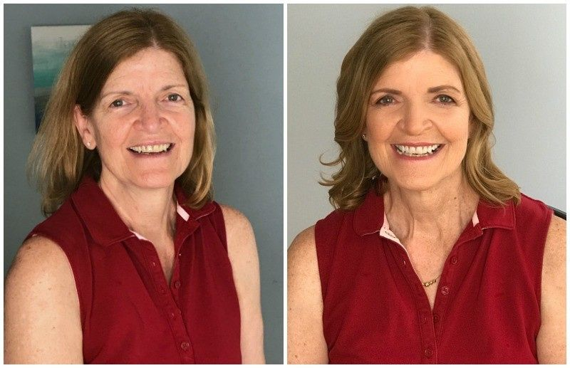 before and after special event makeover over 50