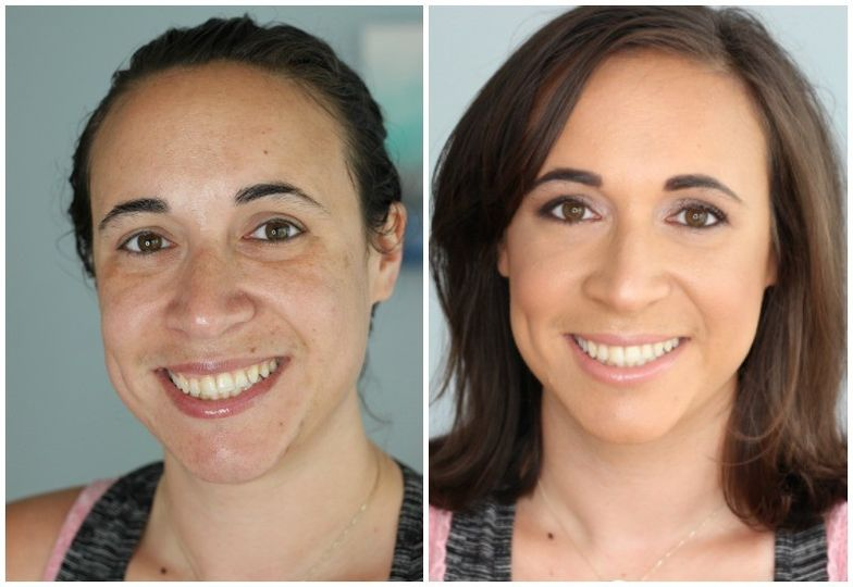 before and after special event wedding makeup dar