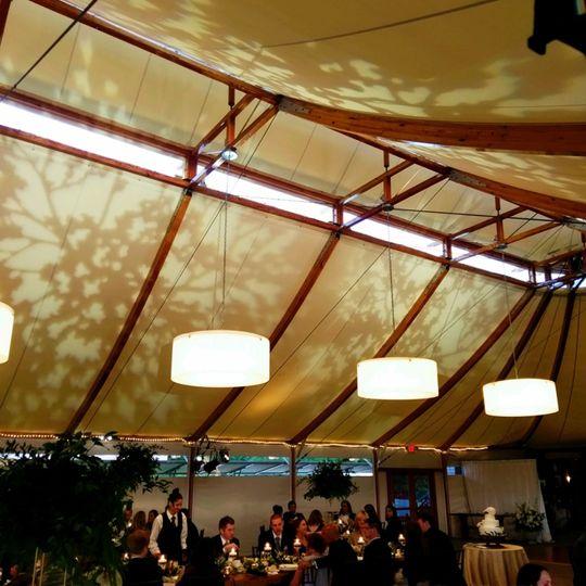Texture Lighting Tent Surface, Newport RI