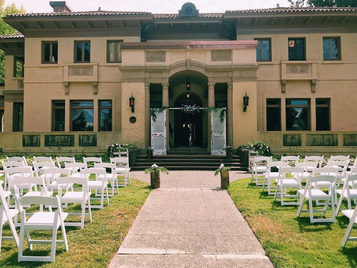 Ceremony setup on Front Lawn
