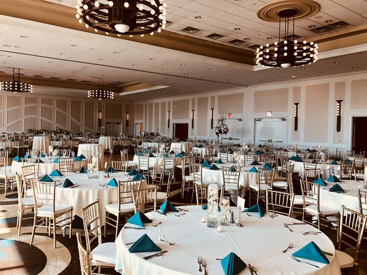 Our riverview ballroom is located on our first floor and can accommodate wedding receptions with...