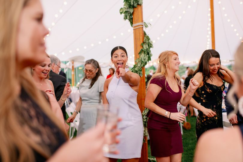 Dancing in the tent