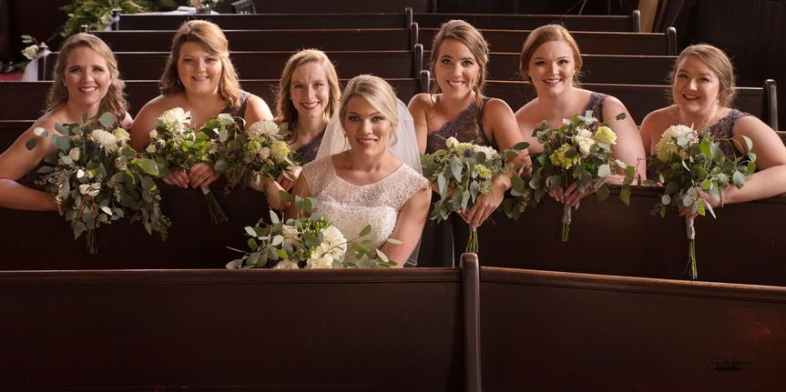 Bailie and her bridesmaids, Wartrace, Tenn.