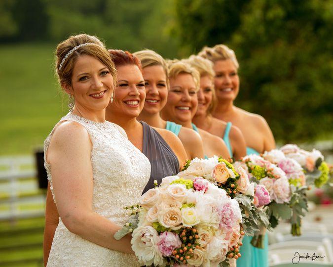 Jessica and her bridesmaids, shot at Samory Plantation, Eagleville, Tenn.