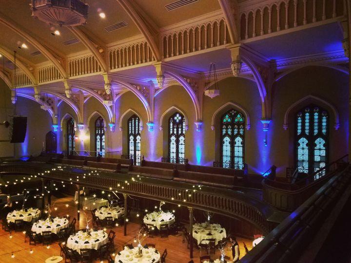 Reception set-up and uplighting