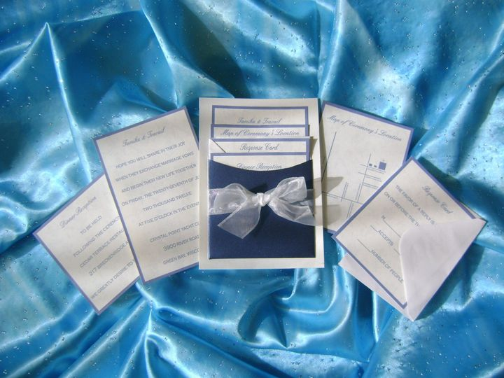 Ribbon Bow Pocket Invitation Suite