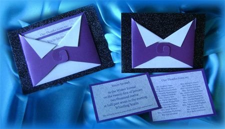 Invitation Styled like a Tuxedo