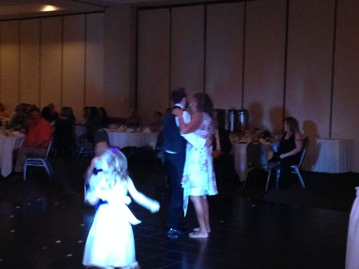 Dancing couple and kids