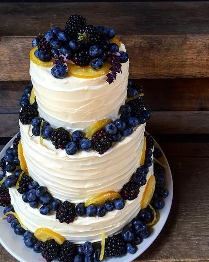 Bride needed a special cake made with whole wheat flour.  Upstate Table delivered! This wedding cake...