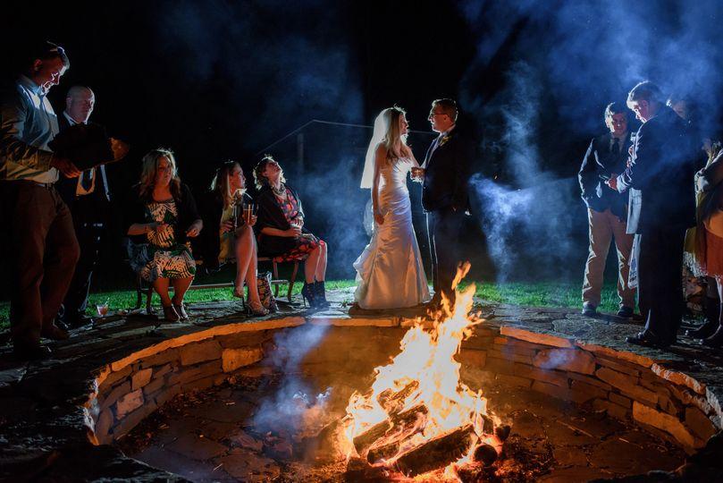 Campfire romance.
