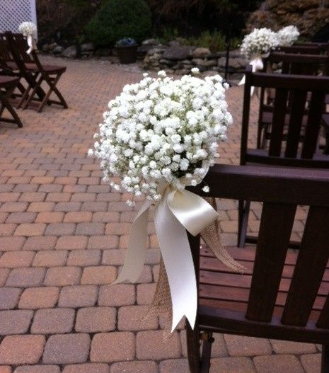 Flowers as chair decors