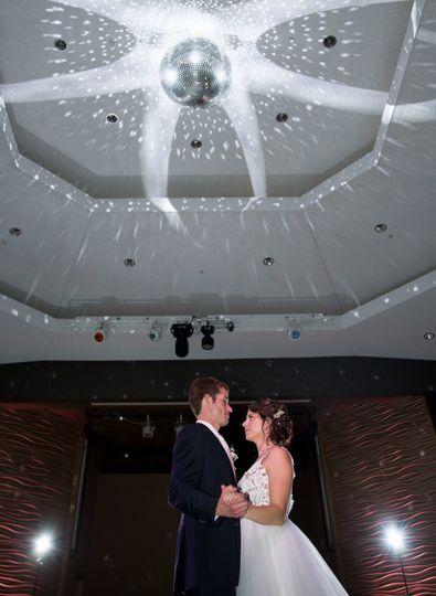 Newlyweds take the dance floor