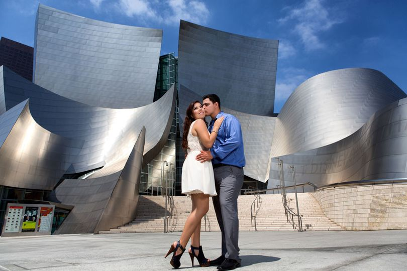 los angeles engagement session w