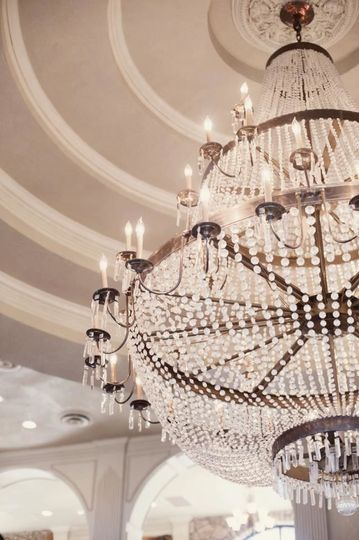 Closeup of chandelier