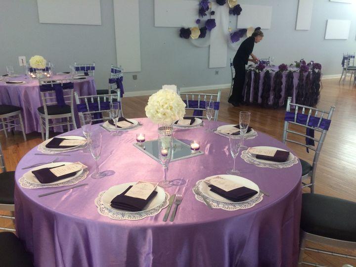 Purple tables