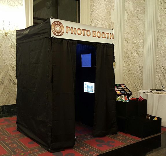 Booth setup at the event