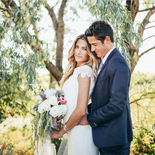 custom crepe beaded modest wedding dress