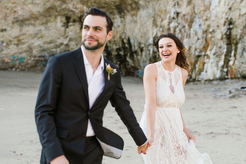 Santa Cruz, California beach elopement