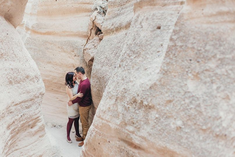 Tent Rocks hiking engagement session