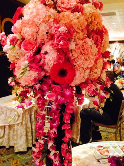 Pink tone flowers