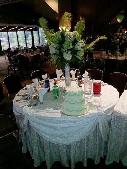 Wedding cake setup